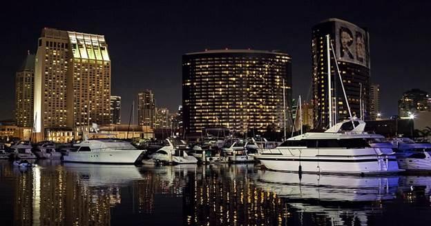 Night life of San Diego